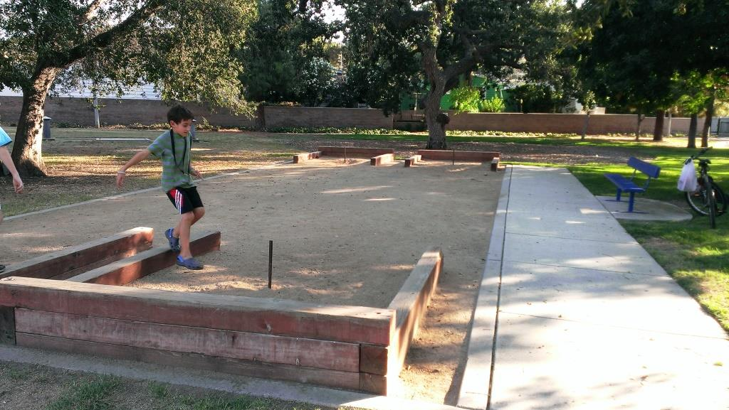 Who has horseshoes to use at these horseshoe pits!? Looks fun!
