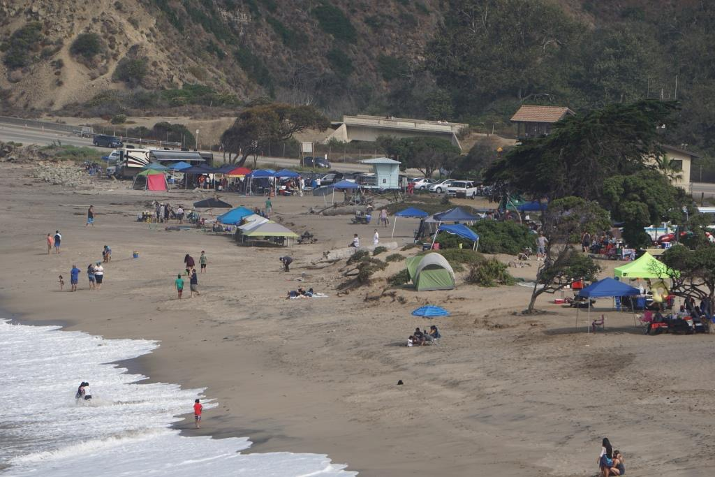 A view of Sycamore Cove Beach from the south.