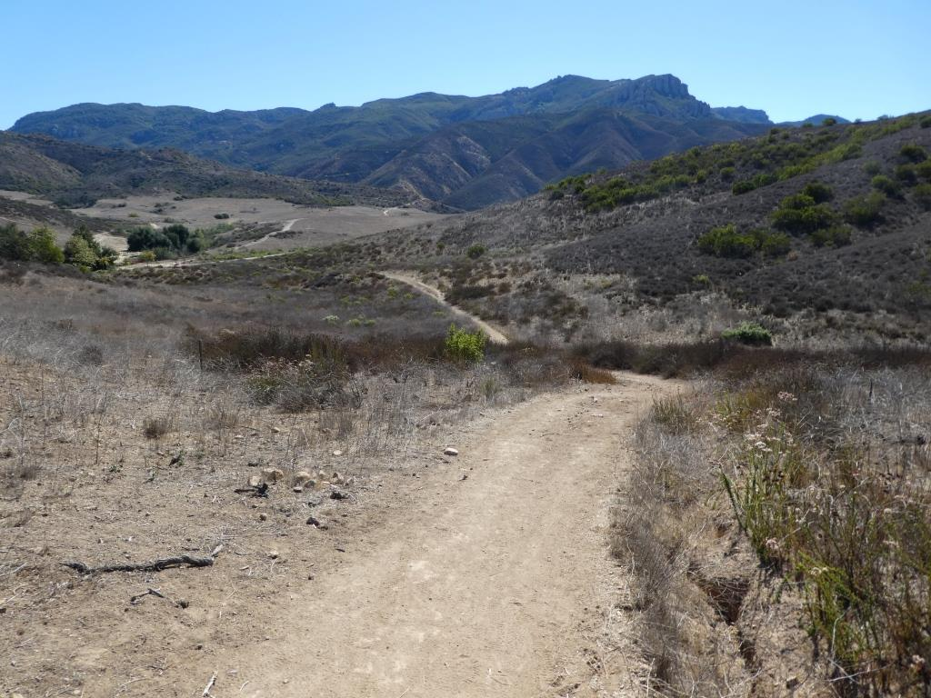 "The ""peak"" of the Ranch Overlook Trail, looking southeast towards Satwiwa and Boney."