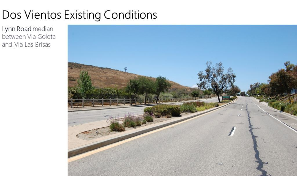 Photo of Lynn Road Demonstration Site Location (Photo Credit: City of Thousand Oaks)