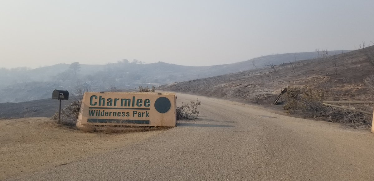 Charmlee Wilderness Park entrance post-Woolsey Fire (Photo Credit: MRCA)