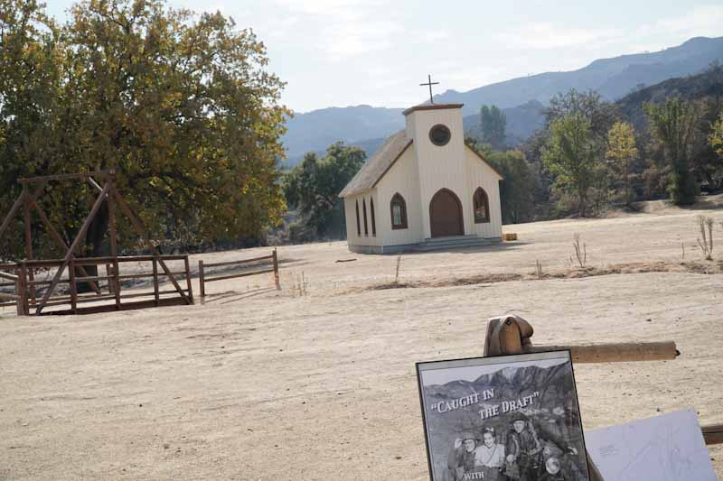 "A beacon of hope. Two structures were unharmed in the Woolsey Fire - this church building seen in the TV series ""Westworld"" and the train station."