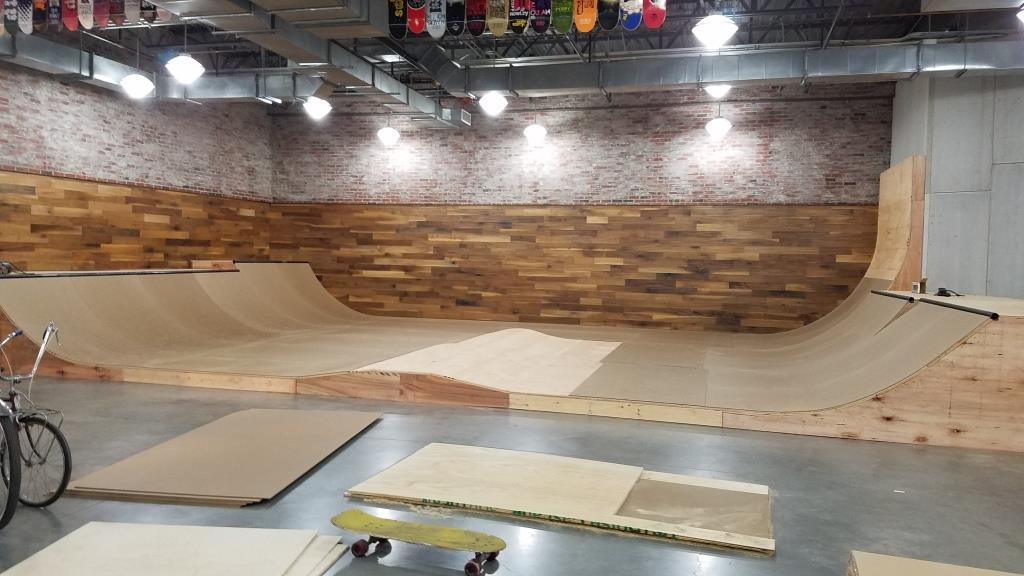 Nearly complete mini ramp at Skateboarding Hall of Fame and Museum.