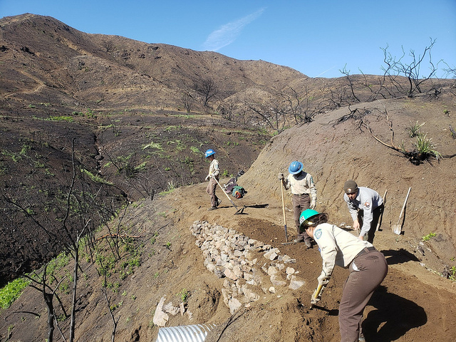 Backbone Trail repair work (Photo Courtesy of National Park Service)