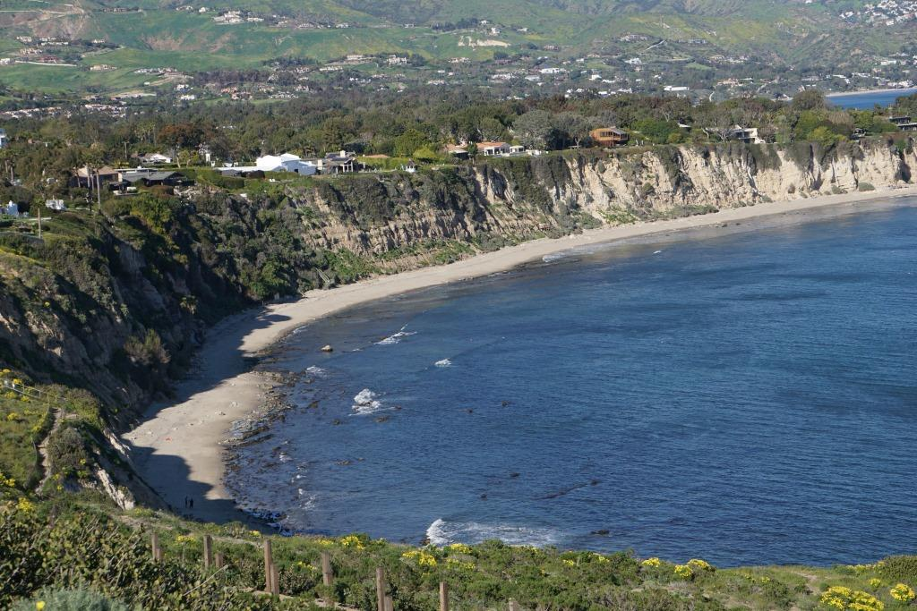 View from the top towards east side of Point Dume Cove