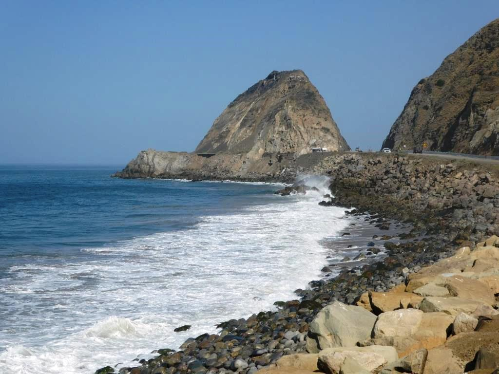 Adjacent (southeast) to Mugu Rock.