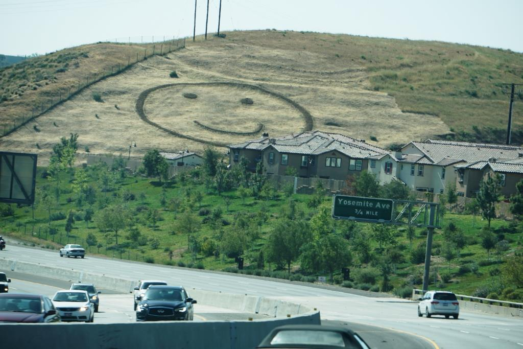 Happy Face Hill   in Simi Valley is not a mountain monogram but is perhaps the visible hillside attraction throughout Ventura County.