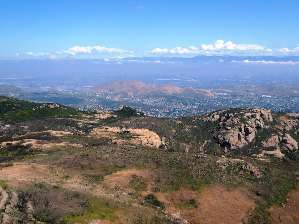Fire or no fire…the views from Sandstone Peak have not changed.