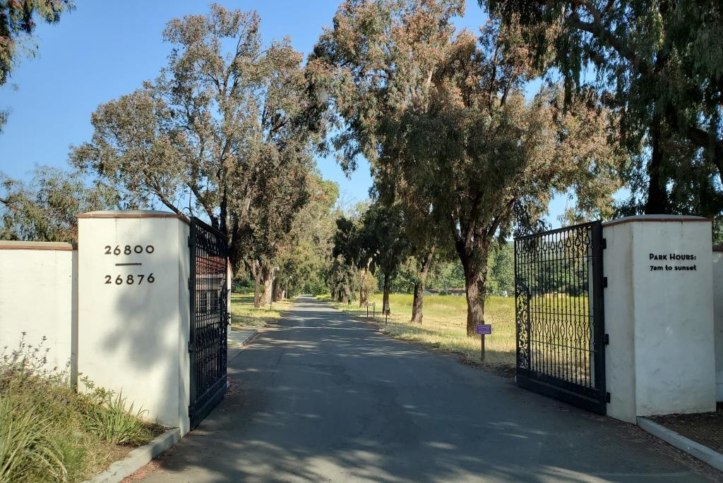King Gillette Ranch entrance on a recent spring day.