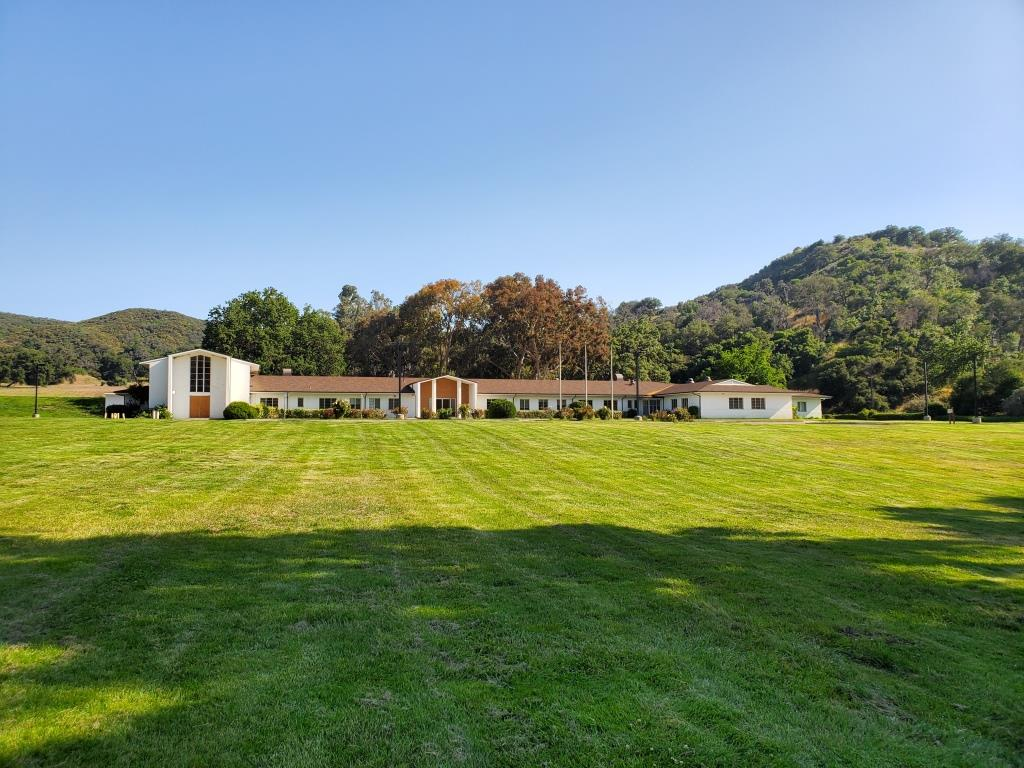 A similar view from the expansive, beautiful lawn at King Gillette Ranch.