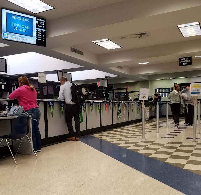 Awaiting my turn at the Thousand Oaks DMV.