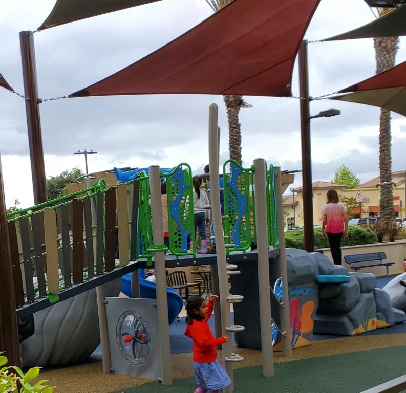 Playground installed at the Camarillo Premium Outlets in 2019.