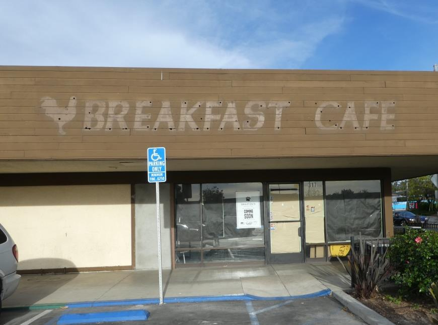 Formerly the Breakfast Cafe.