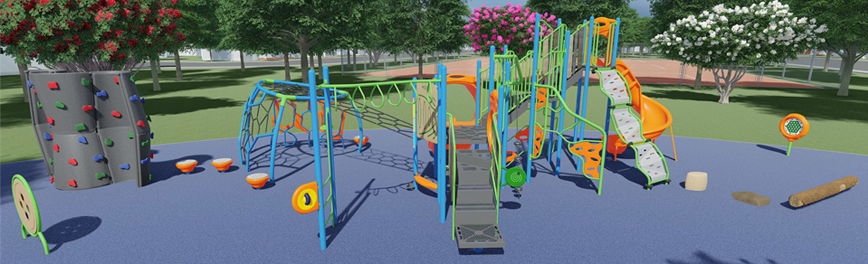 Here's a mockup of the type of playground going into Camarillo Grove Park.