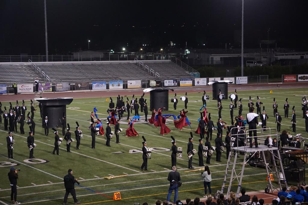 Thousand Oaks High School Band and Color Guard putting on a great show.