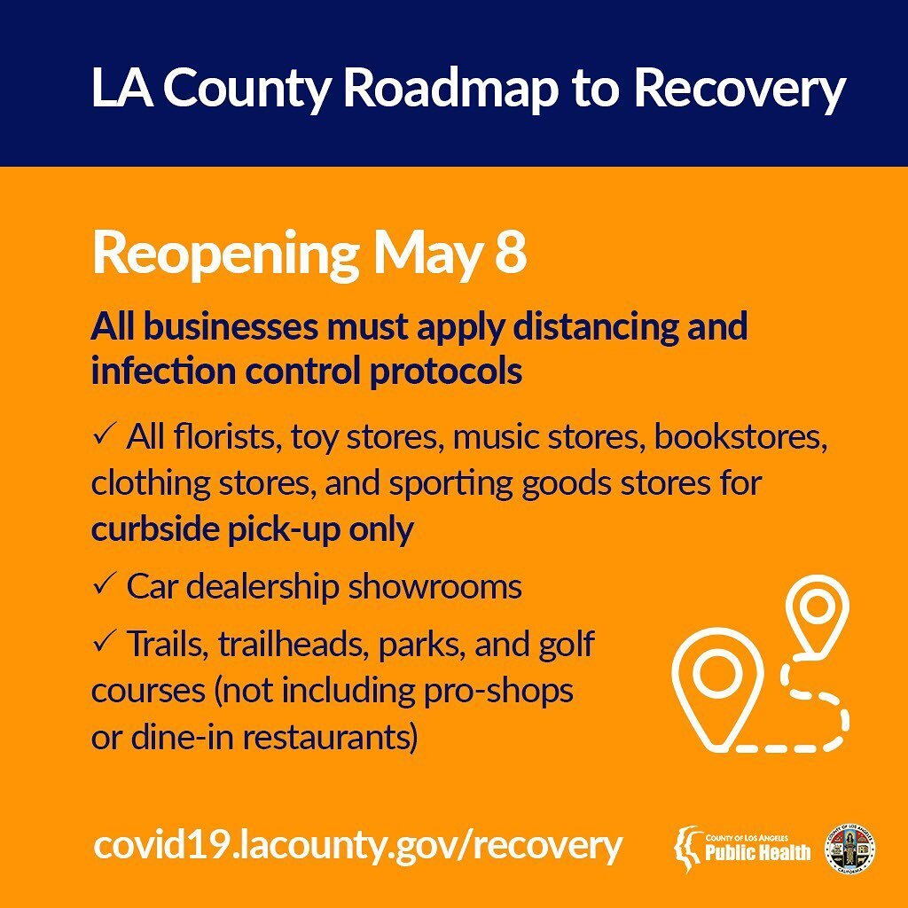 Los Angeles County To Begin Lifting Restrictions On Certain Businesses And Recreational Activities Beginning May 8th Conejo Valley Guide Conejo Valley Events