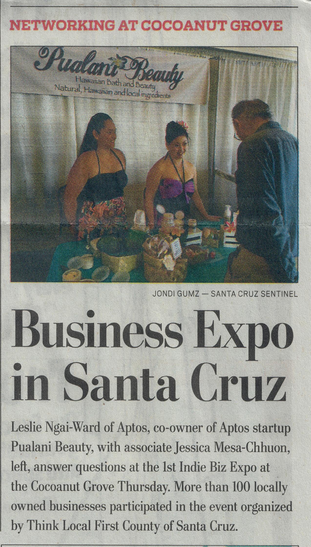 Our leading ladies in the Santa Cruz Sentinel #indiebizexpo #scsentinel