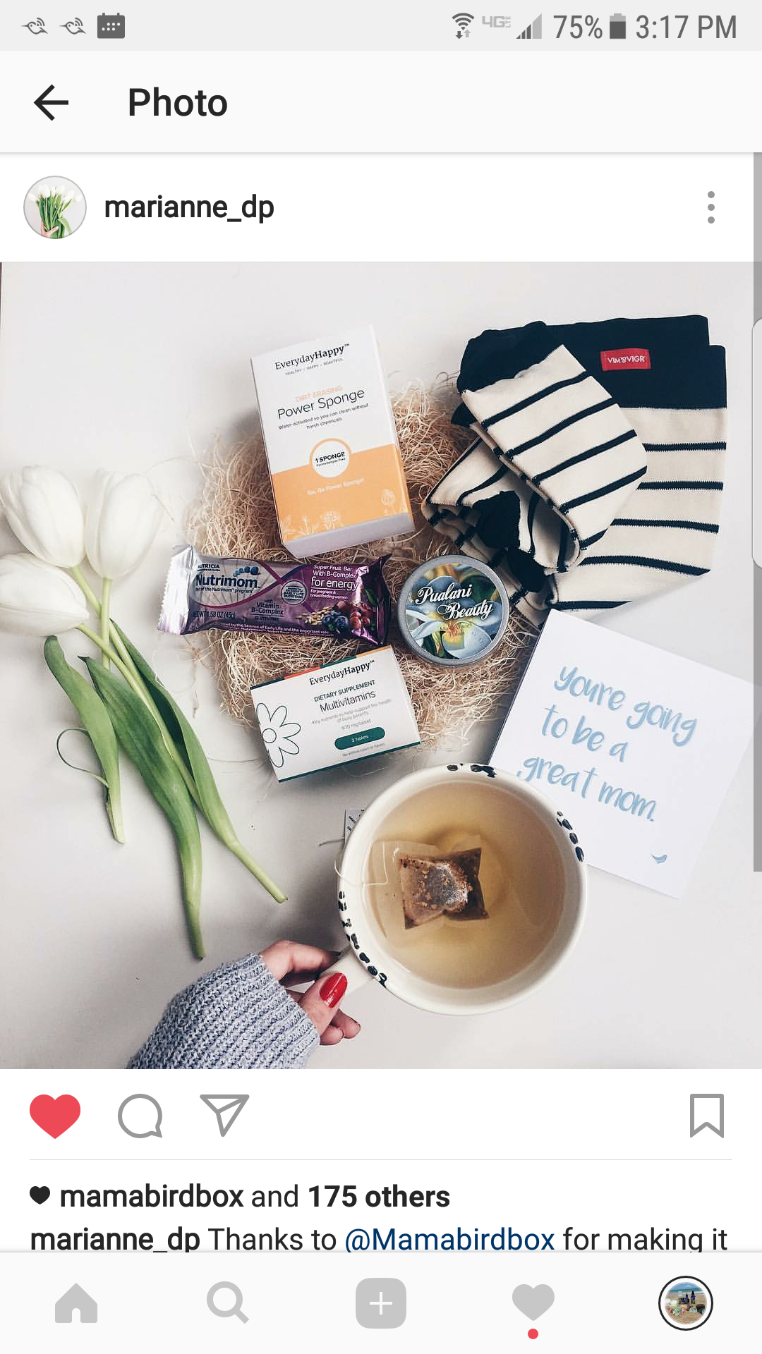 Mahalo @marianne_dp for sharing your Mamabirdbox with your followers, which includes our Kona coffee face scrub!