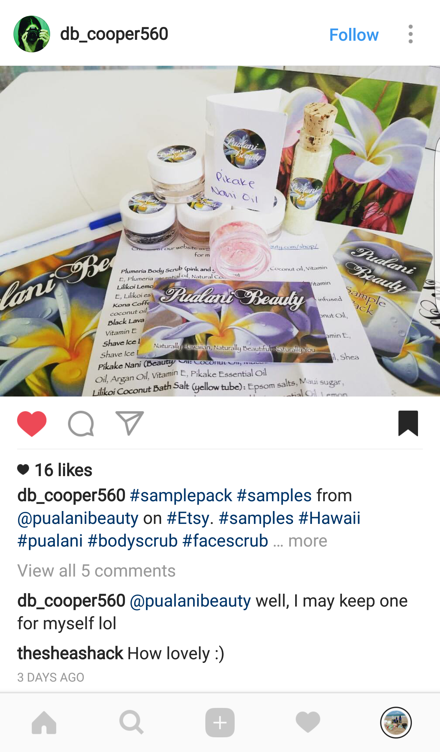 Mahalo @db_cooper560 for the shoutout, we love seeing the new home our products travel to!
