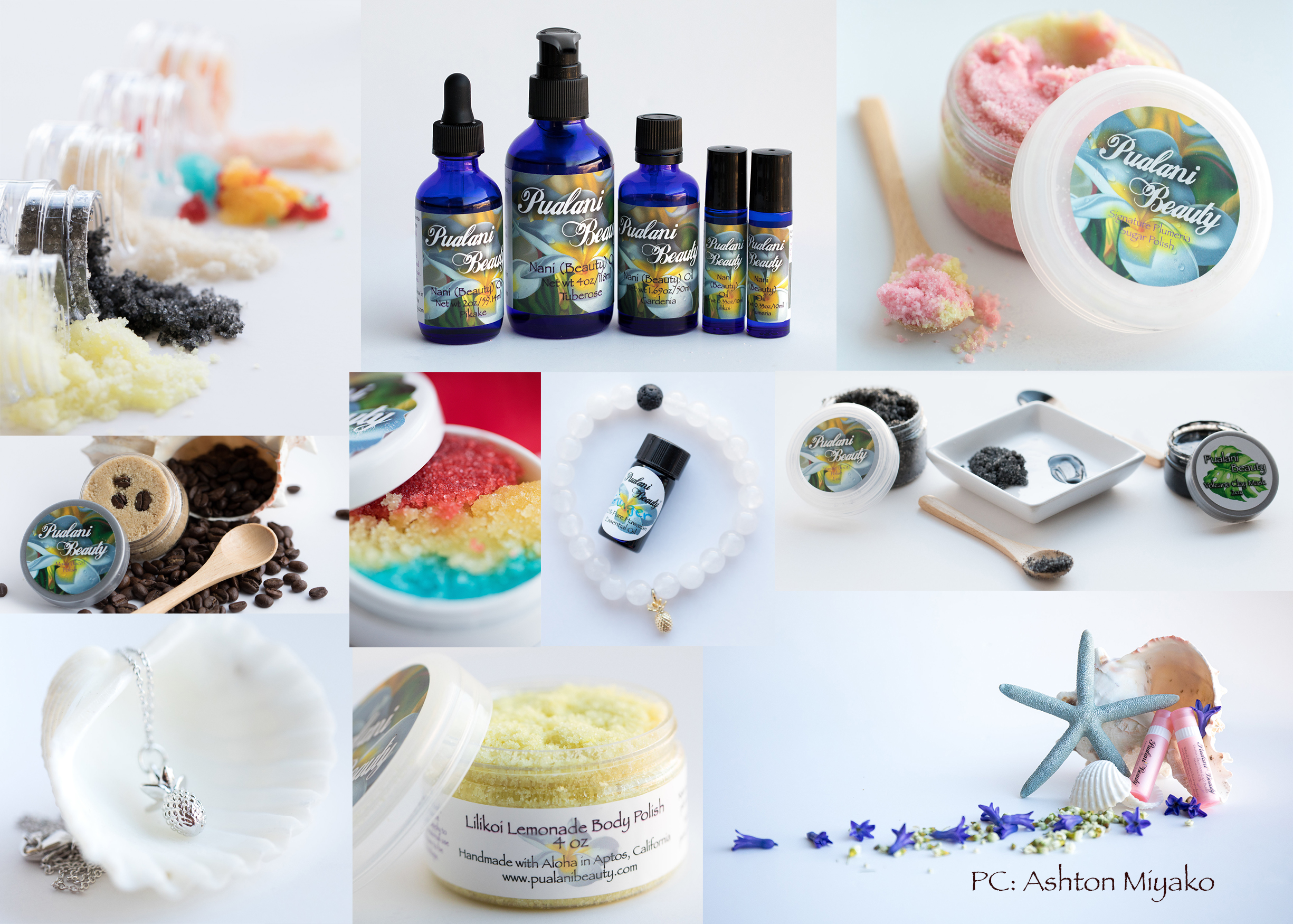 Take Hawaii home today - Check out our selection of natural, organic Hawaiian skincare products, which include perfumes, lotions, moisturizing beauty oils, scrubs, face care line, mommy&me line, men's line, essential oils, and jewelry.