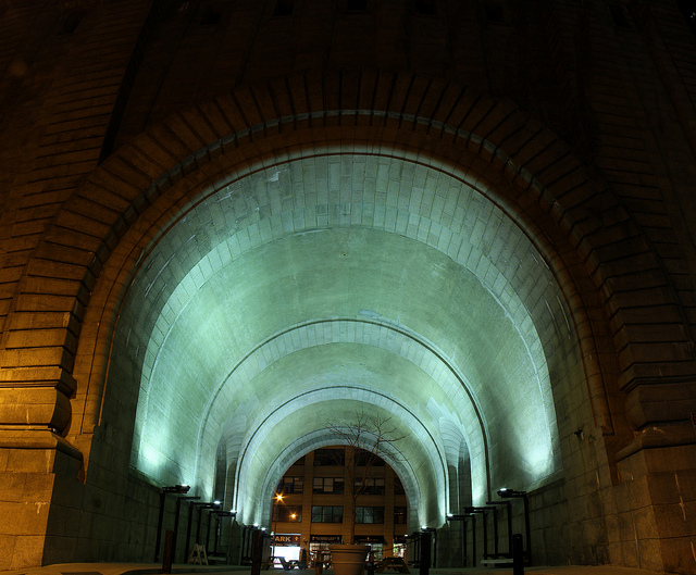 BELLS/DOOR is a Public Participatory Sound Installation designed for the Manhattan Bridge Archway in DUMBO,NYC