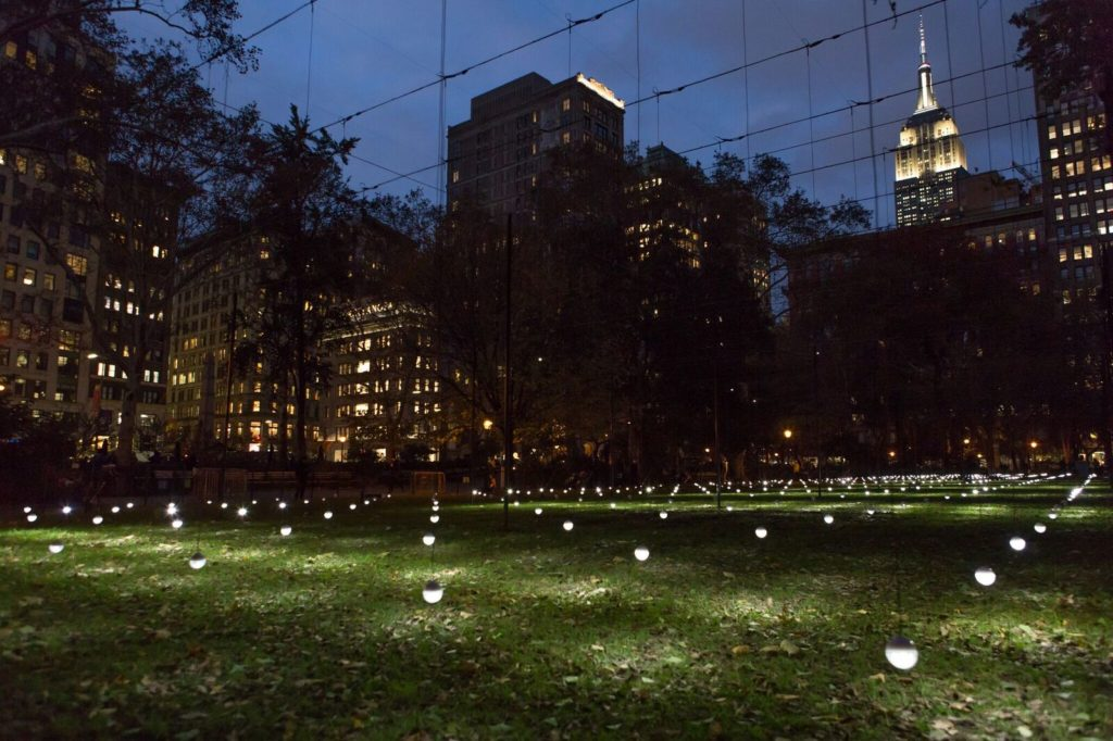 "Working in conjunction with MMNY and Madison Square Park Conservatory.    This Year features ""   Whiteout   "" an installation by Erwin Redl."