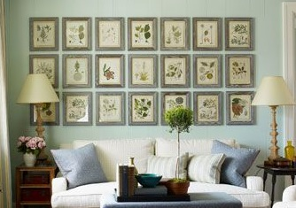 wall of frames ideas