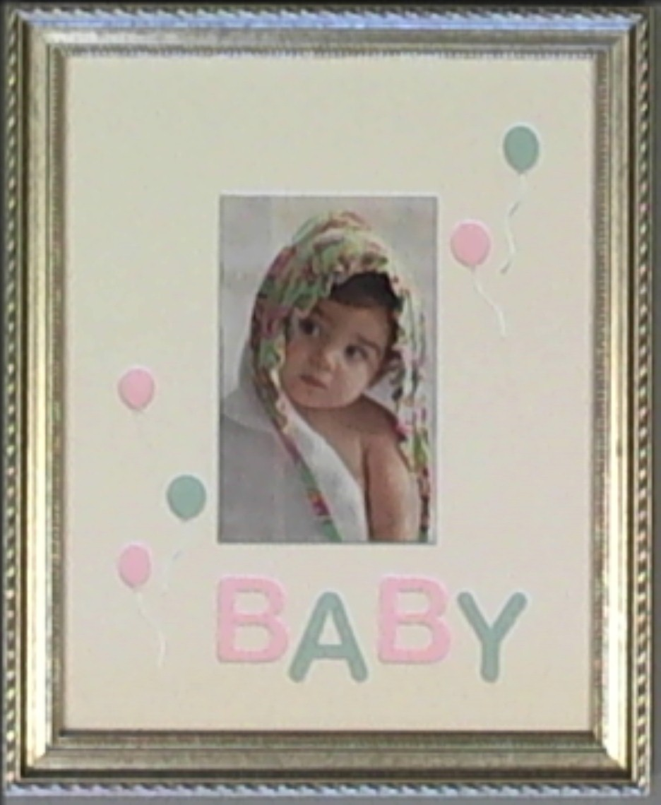 New baby gift ideas - framed photo