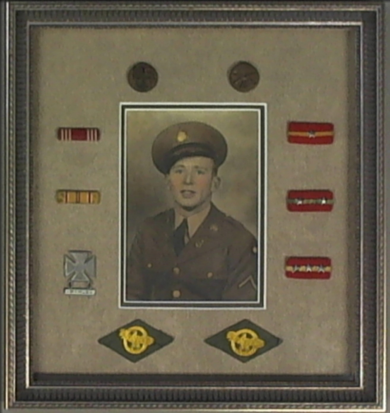 Framed Military Metals with photo