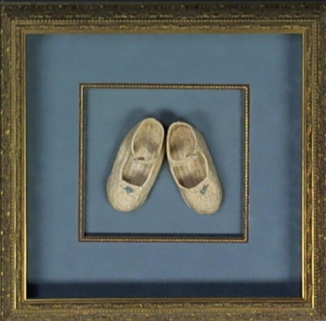 shadowbox ideas - baby booties