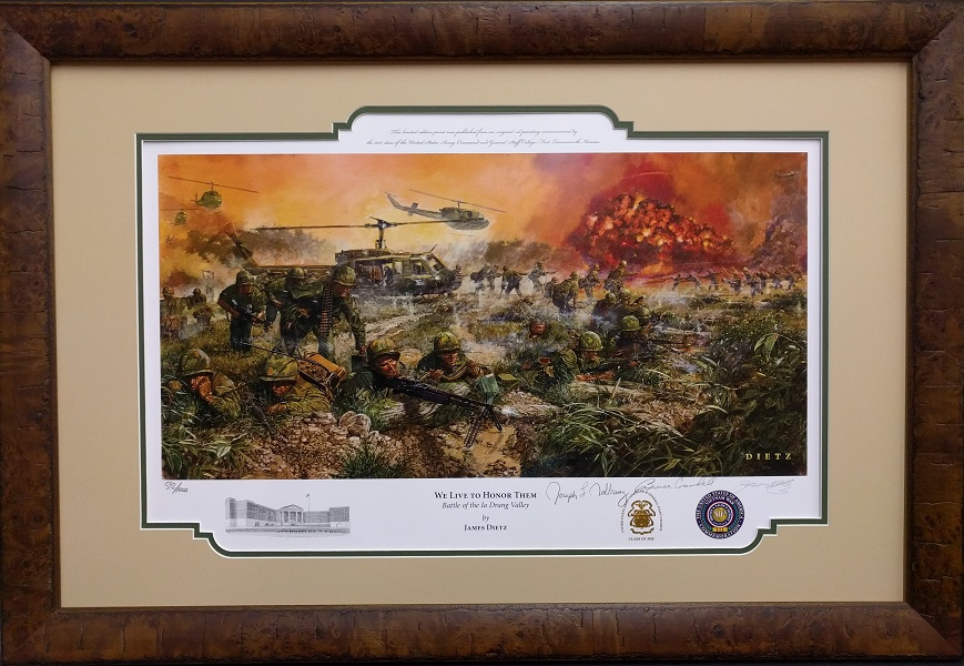 Custom Framed Military Art