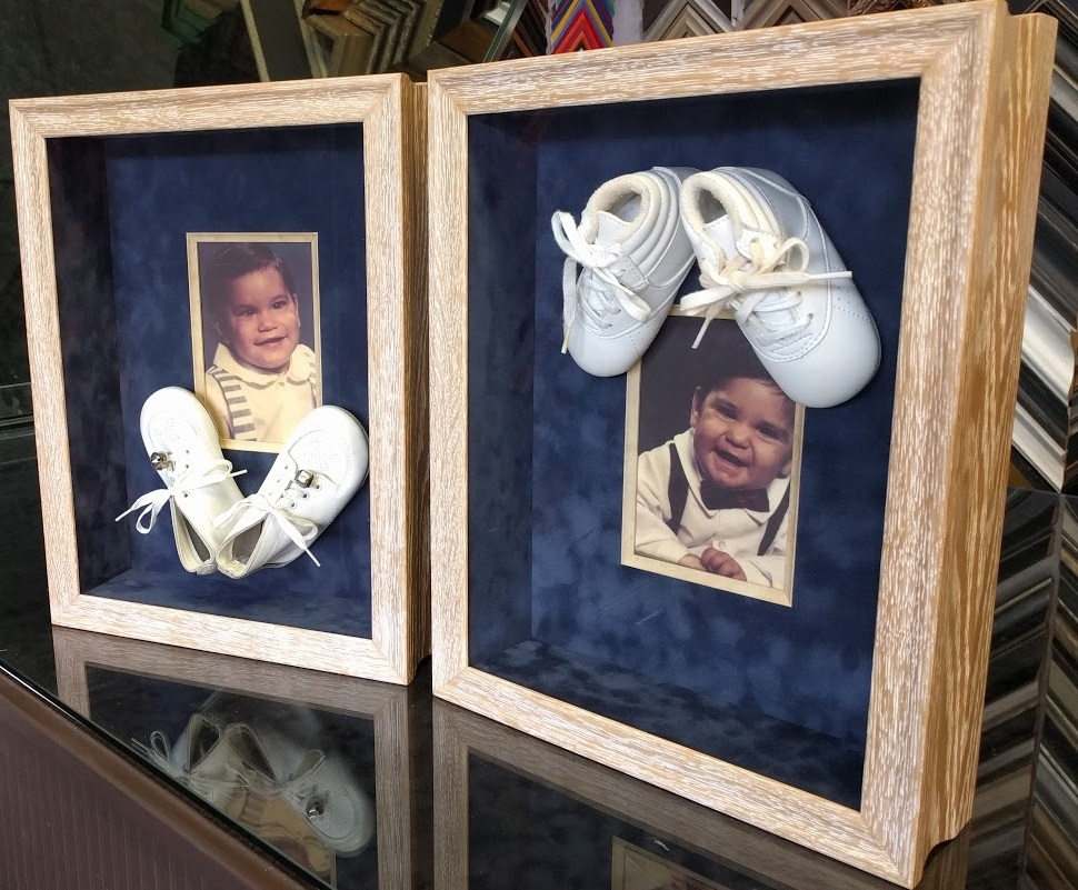 Custom Framed Baby Booties