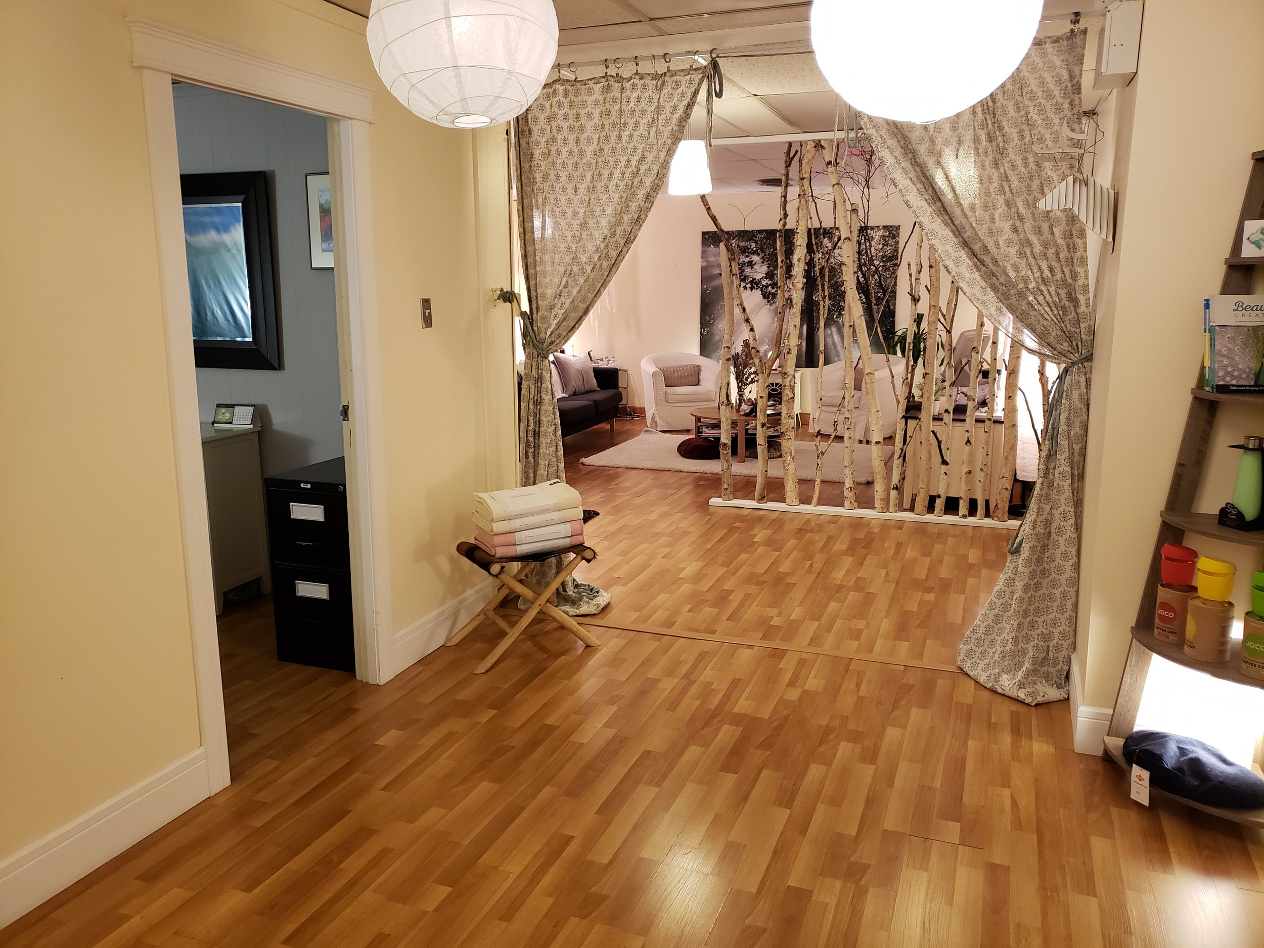 Cozy up in our beautiful studio and examine your yoga practice.