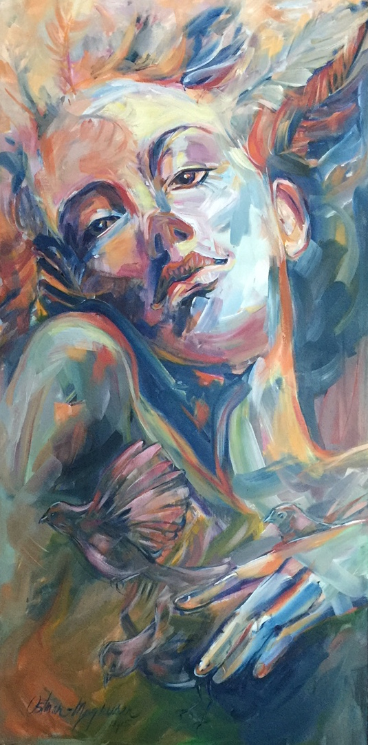 """""""Letting Go"""", 48x24 oil on canvas"""