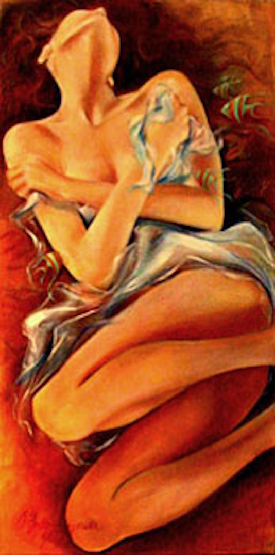 Enticed 48x24 oil on canvas