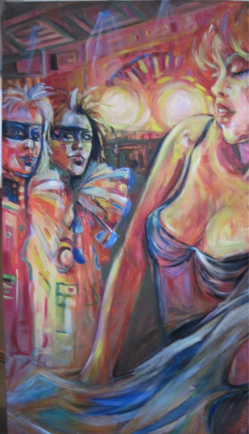 Revisiting the Circus 36x24 oil on canvas