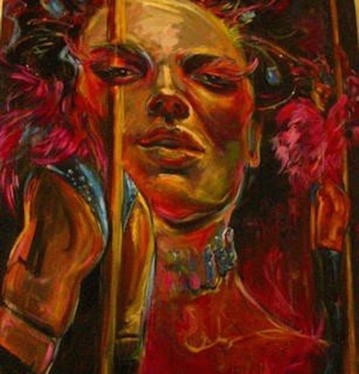 Pole Dancer 36x24 oil on canvas