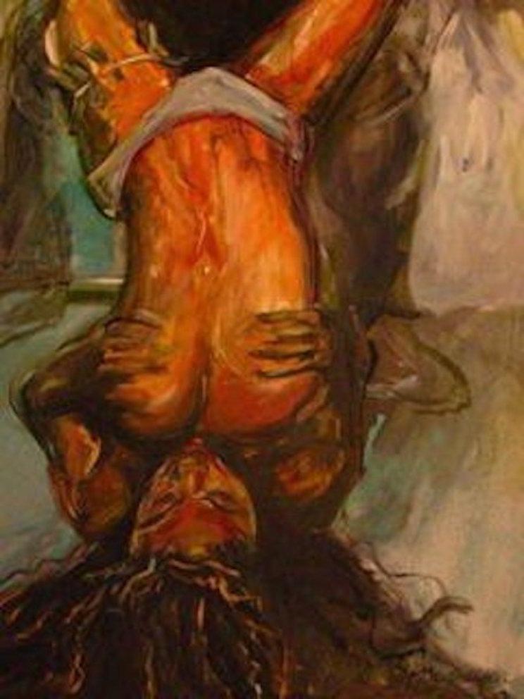 Lap Dancer 36x24 oil on canvas