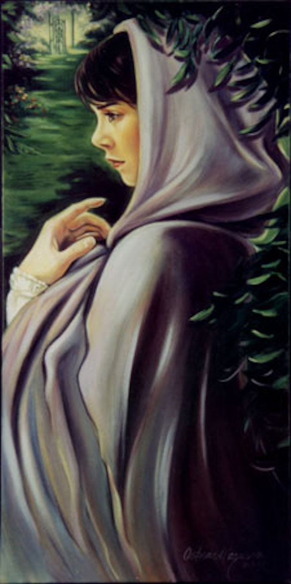 Lavender Cloak 30x15 oil on canvas