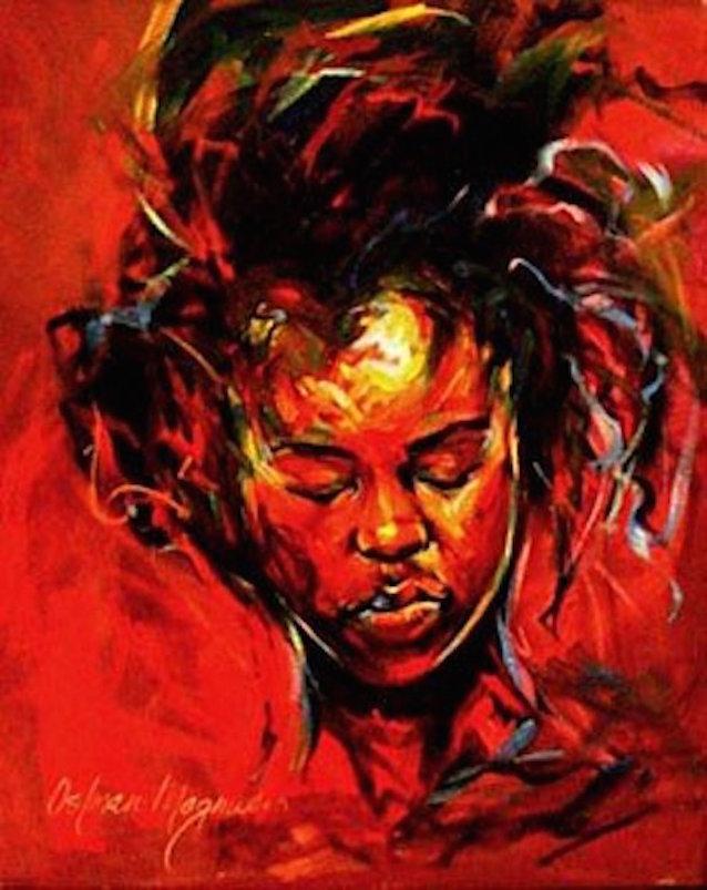 Little Girl 18x20 oil on canvas
