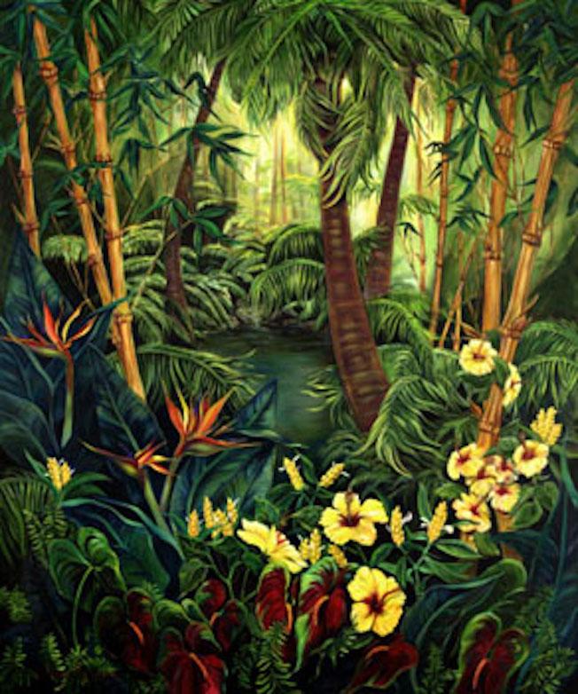 Hideaway, 72x62x2 oil on canvas