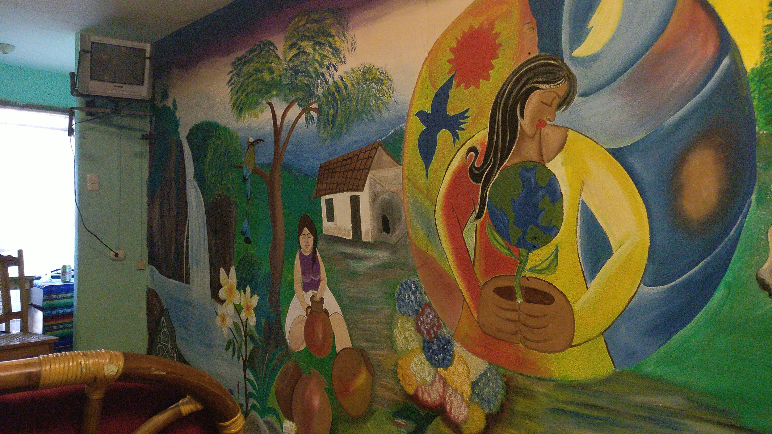 Mural painted by Ashley!