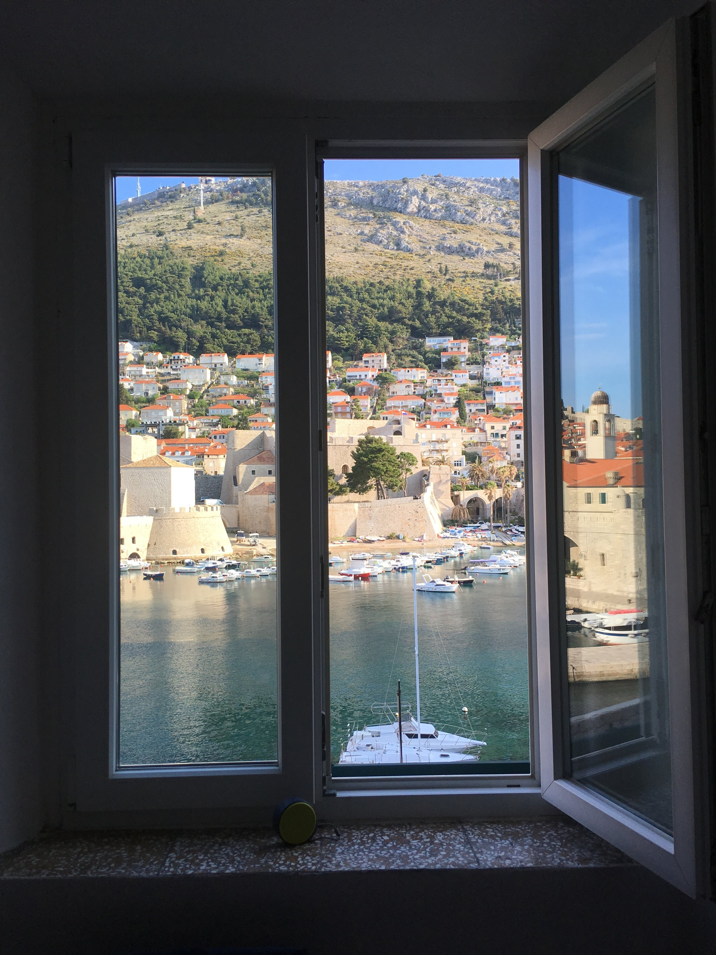 The views from Renata's apartments over the boat harbor
