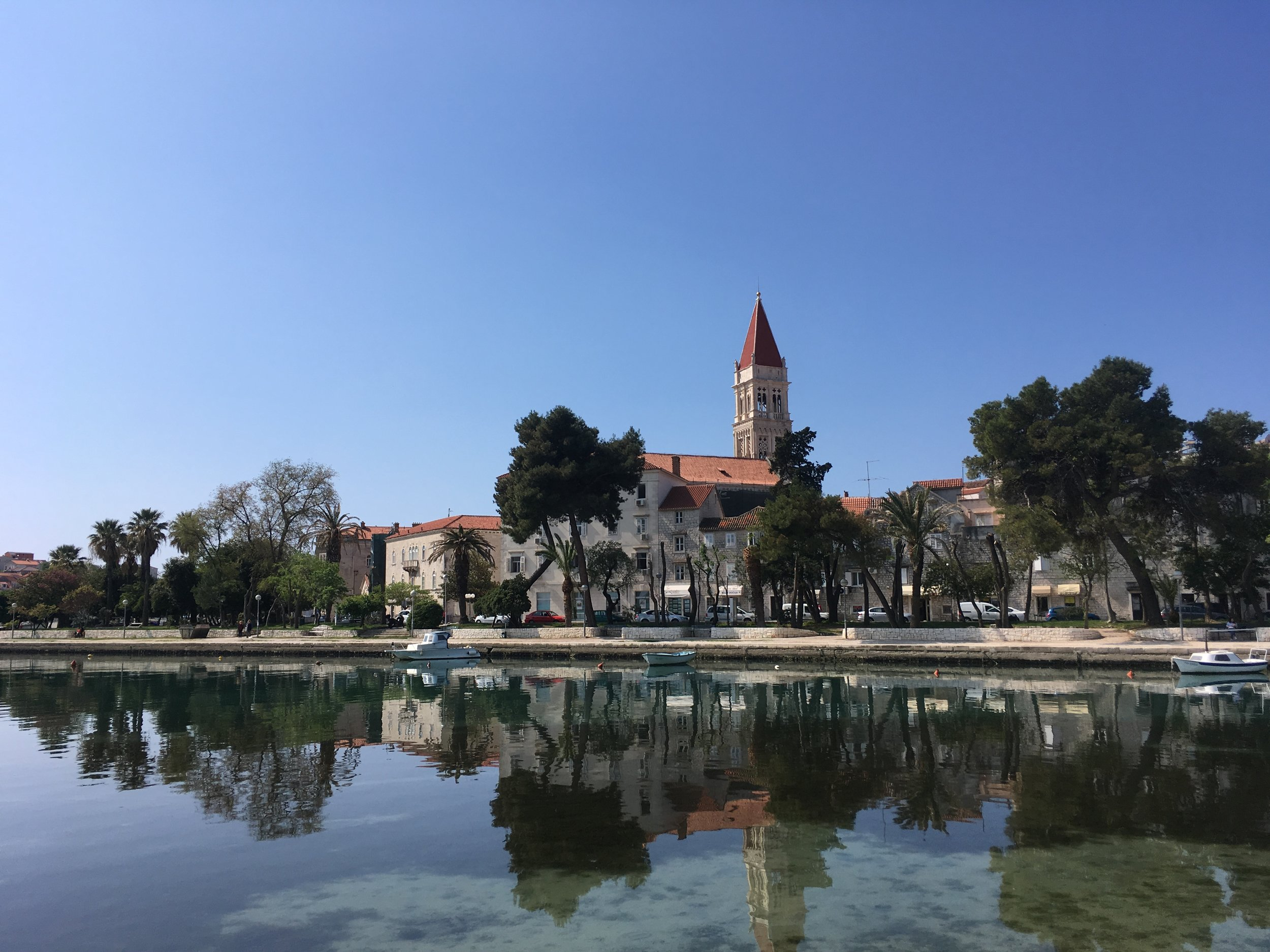 Trogir from the visitor parking lot