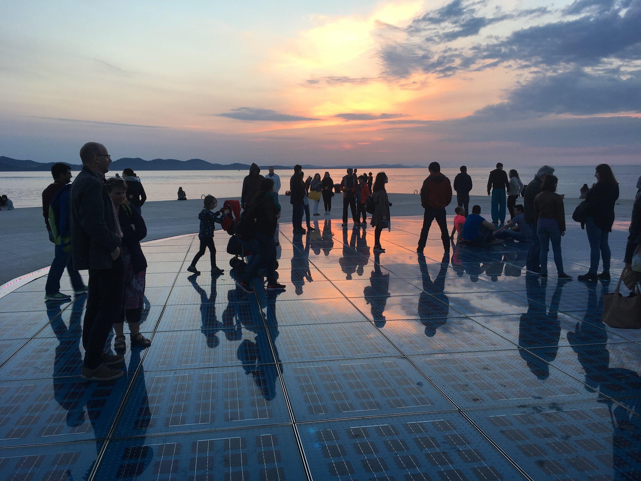 Sun Salutation just before sunset