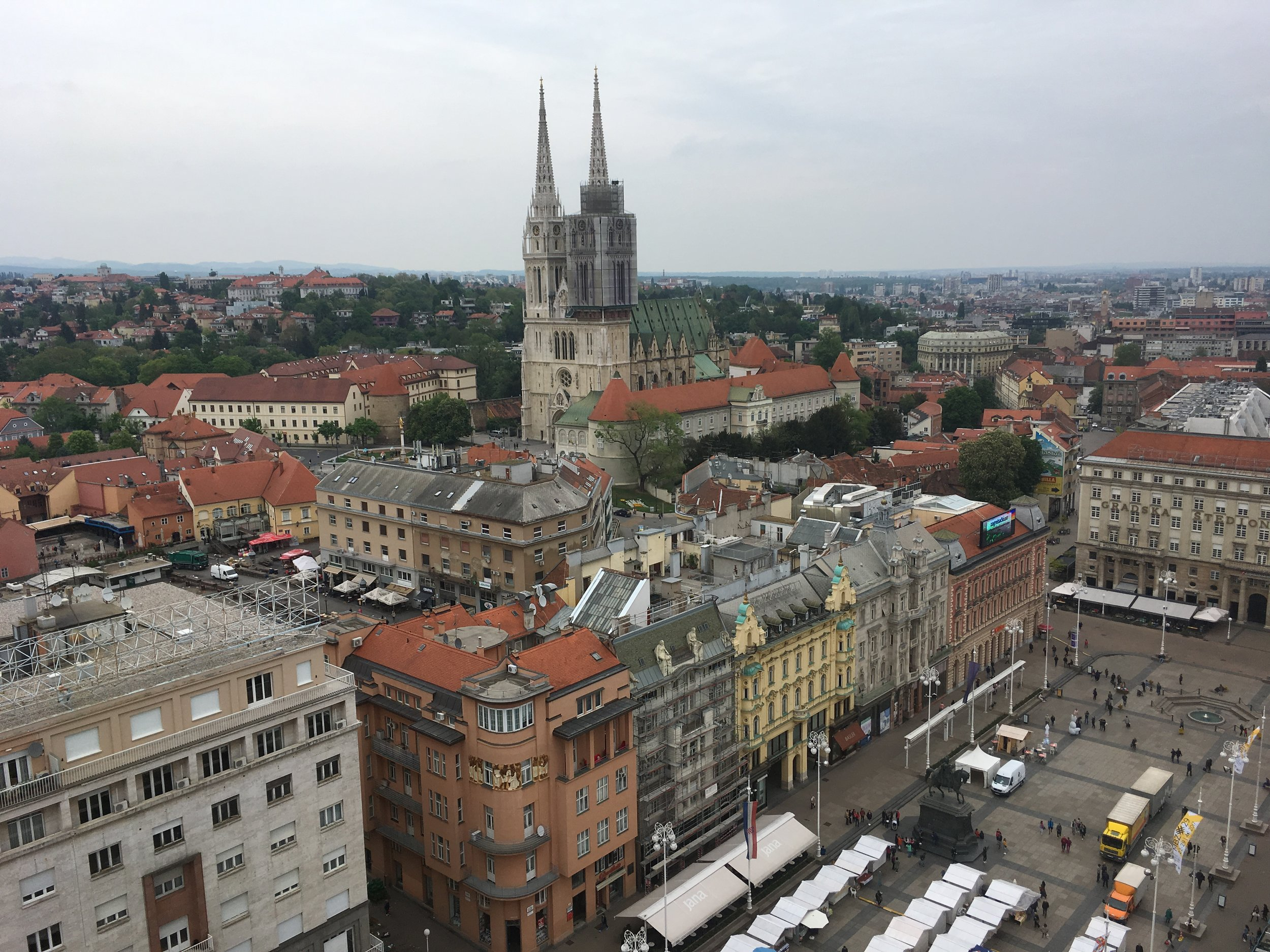 View from the Zagreb Eye