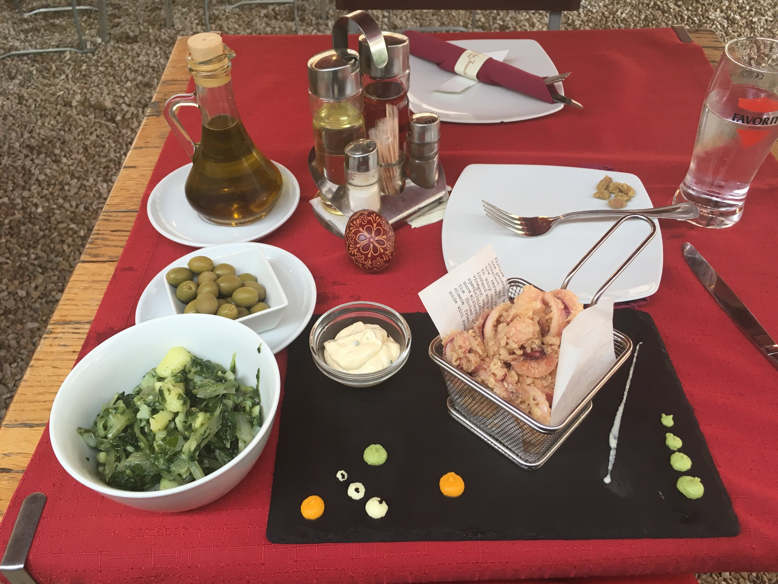 My Easter lunch in Dubrovnik