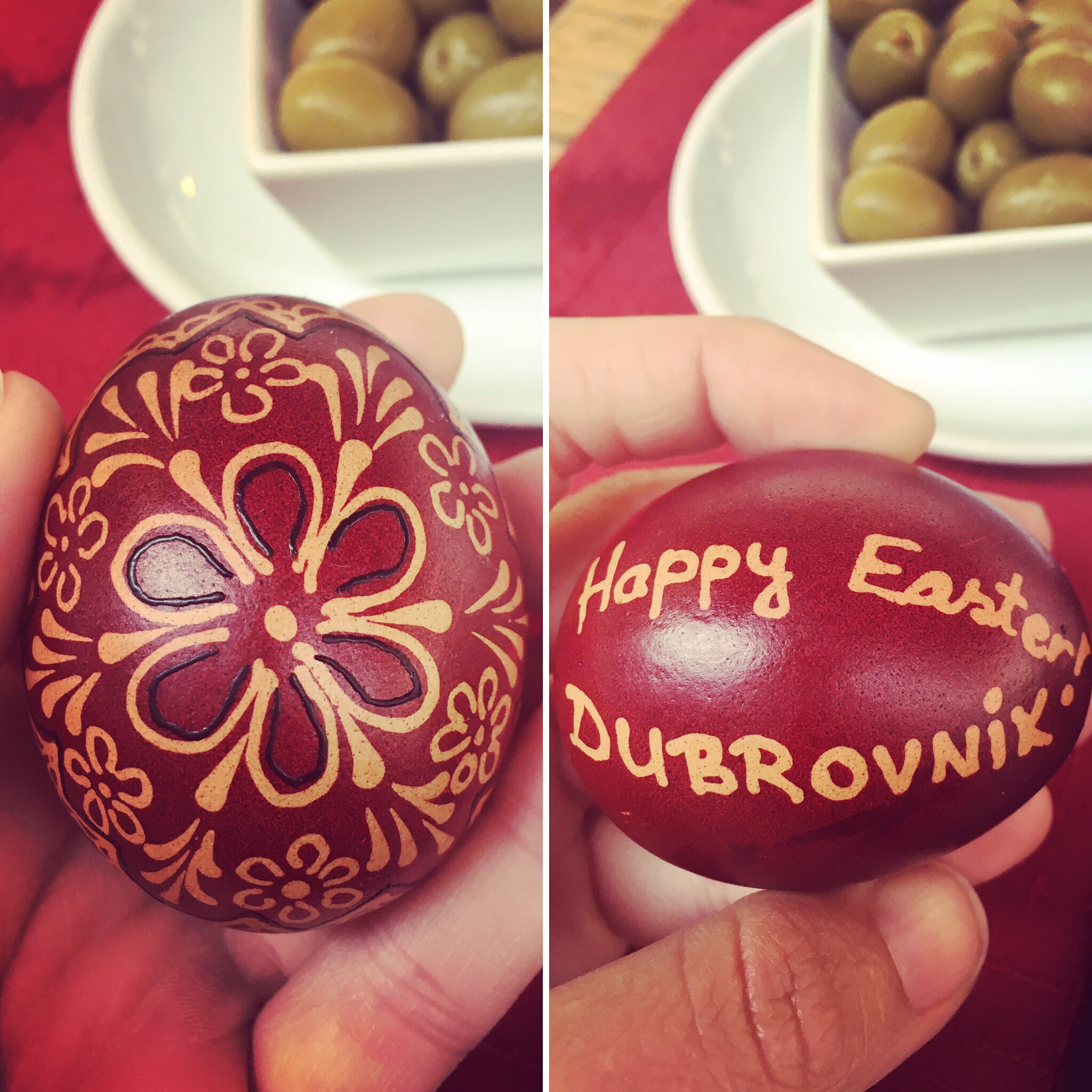 I was gifted a traditional painted egg!
