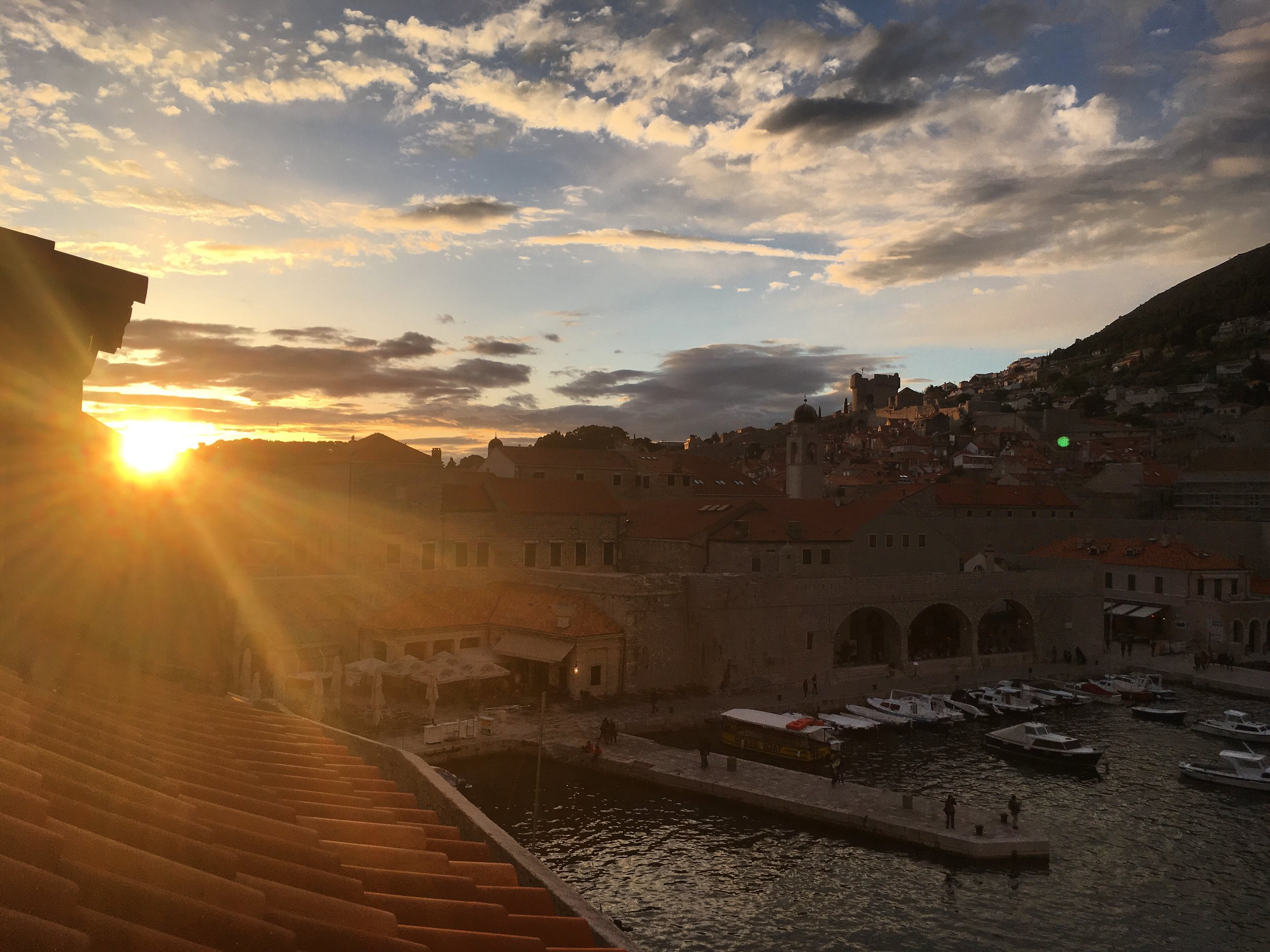Sunset from Renata's apartment windows