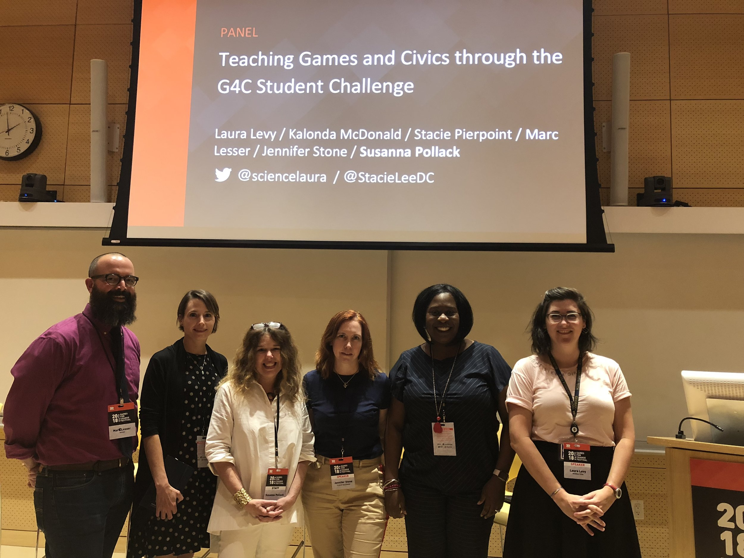 Games for Change Festival 2018: representing Georgia Tech as an anchor partner in the Games for Change Student Challenge